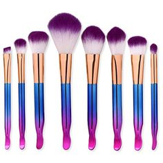 Gaogoo 8pcs Makeup Brushes Set Cosmetic Blusher Eye Shadow Brush Set Kit Cosmetic Brushes for Powder Liquid Cream ** Click on the image for additional details. (This is an affiliate link) #BrushSets