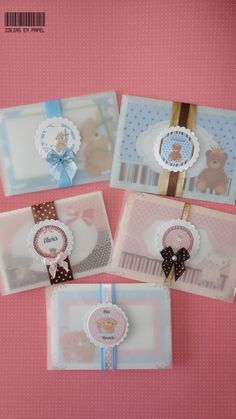 Convites Batizado Tema Ursos Teddy Bear Party, Teddy Bear Baby Shower, Baby Shower Cards, Baby Cards, Baptism Invitations, Baby Shower Invitations, Scrapbook Box, Baptism Cards, Baby Shower Princess