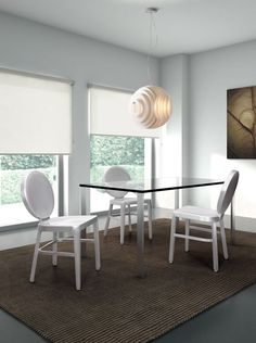 Intergalactic Ceiling Lamp, Reservation Chair, Slim Dining Table