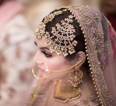 Bride shares this stunning picture from her morning wedding. Are you excited to see her engagement, cocktail , evening… Pakistani Wedding Outfits, Pakistani Bridal Wear, Indian Bridal Fashion, Indian Wedding Jewelry, Bridal Jewelry, Bridal Dress Design, Bridal Style, Bridal Photoshoot, Engagement Dresses