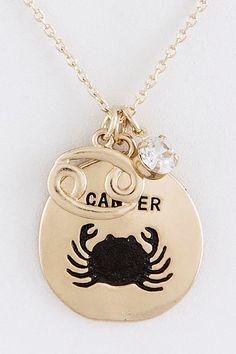 Cancer ♋ Zodiac Sign  Charm Necklace. Zodiac Jewelry. by LavishMeBoutique