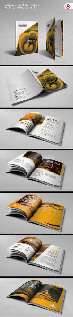 Logistics Corporate InDesign Brochure  Template • Only available here ➝ http://graphicriver.net/item/logistics-corporate-brochure/2523846?ref=pxcr