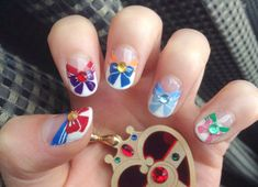 Sailor Scout Inspired Nails