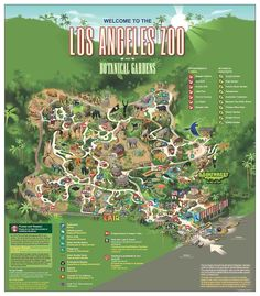 LA Zoo/Botanical Gardens Map
