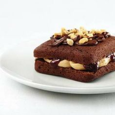 Peanut Butter 'N Jelly Brownie Sandwiches  For recipe:  https://www.facebook.com/photo.php?fbid=489453771091849&set=a.475303835840176.93124.432606490109911&type=3&theater  http://www.pamperedchef.biz/labritta