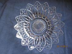 Vintage Federal Glass Serving Bowl - Petal Pattern - Vintage 1954-1979