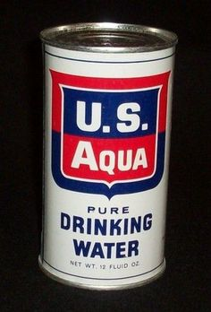 cold war nuclear fallout bomb shelter EMERGENCY DRINKING WATER CAN: