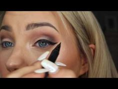 How to do a wing liner like a PRO!! - YouTube Peach Palette, Sweet Peach, Eye Tutorial, Winged Liner, Wings, Make Up, Eyes, Face, Youtube