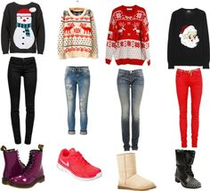 """""""how to make an outfit with a ugly christmas sweater :)"""" by mlamear ❤ liked on Polyvore"""