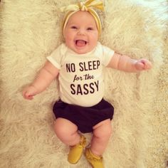 No Sleep for the Sassy Glitter Baby Onesie by HmScotland on Etsy Baby Onesie, Baby Shirts, Onesies, Funny Babies, Cute Babies, Baby Kids, Baby Bug, Breastfeeding And Pumping, Niece And Nephew