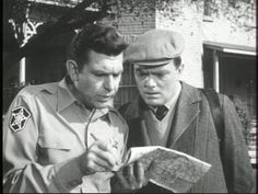 """Sheriff Andy Taylor (Andy Griffith) helps Malcolm Merriweather (Bernard Fox) with a map on """"The Andy Griffith Show"""". Great Tv Shows, Old Tv Shows, Bernard Fox, Barney Fife, Barney & Friends, The Andy Griffith Show, Childhood Tv Shows, Online Photo Gallery, Good Old Times"""