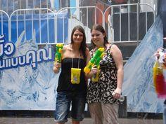Celebrating Songkran.