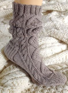 for those cold flights! // Reserved for Tiffany: Scrunch Socks in Wool // byhandbyjean Knit Socks, Knitting Socks, Color Patterns, Cable Knit, Tiffany, Slippers, Cold, Cotton, Etsy