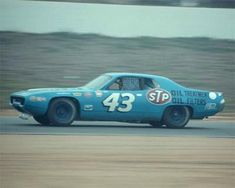 1972 Winston Western 500 First time STP Logos on Petty Plymouth