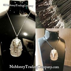 Image of Nisut Necklace - Silver Money Trading, Trading Company, Silver Necklaces, Dog Tag Necklace, Culture, Image, Accessories, Black, Jewelry