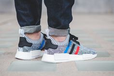 On-Foot: adidas Originals NMD_R1 PK Tri-Color Pack