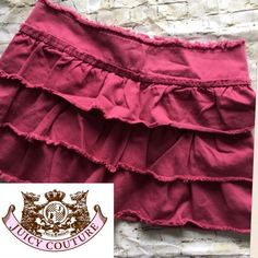 """💝$8💝 Juicy Couture Jean Mini Skirt Size 25P Juicy Couture ruffled skirt is so cute and would be a great addition to your wardrobe. Size is 25P, so it's petite. It's got three ruffled layers and zips in the back. Has no rips, tears or stains and is in VGUC. Waist measures 15"""" across and is 12.5"""" long. I do offer a bundle discount and will entertain reasonable offers. Thank you for checking out my closet! ☺️ Juicy Couture Skirts Mini"""