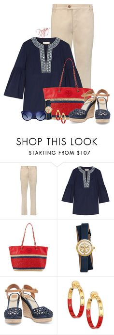 """Tory Burch"" by bainbridgegal ❤ liked on Polyvore featuring Tory Burch"