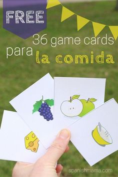 Mi Vida Loca Episode D& de mercado. 36 picture cards for food terms in Spanish. Perfect for concentration, Go Fish, Slap-it, and other vocabulary games. Make learning la comida fun! Elementary Spanish, Spanish Classroom, Teaching Spanish, Elementary Teaching, Preschool Spanish, Spanish Games For Kids, Spanish Activities, Spanish Lesson Plans, Spanish Lessons