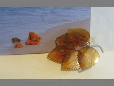 Natural Baltic #Amber Jewelry  #brooch