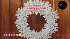 The Christmas wreath Snowflake - Ghirlanda natalizia fai da te - DIY | s...