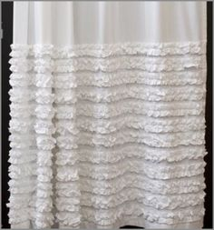 LOVE this shower curtain it's just $80 dont know if I would want to make it for that!