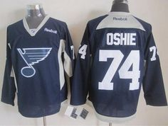 "$34.88 at ""MaryJersey""(maryjerseyelway@gmail.com) Blues 74 T.J Oshie Navy Blue Practice Stitched NHL Jersey"