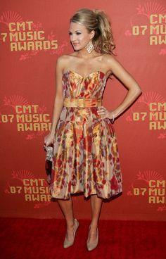 Carrie Underwood Evening Dress - Carrie Underwood Looks - StyleBistro