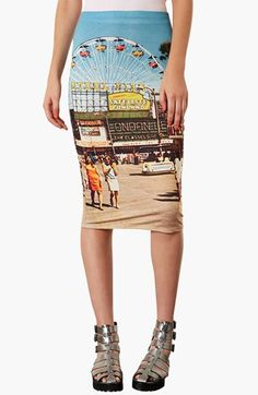 Topshop 'Big Wheel' Tube Skirt available at #Nordstrom  PIN PIN PIN.  pin. trying not to imagine what a ferris wheel printed on my ass would look like.  still pin.