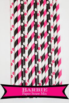 50 Barbie Paper Straw Mix. $8 - Etsy