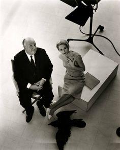 Alfred Hitchcock y Tippi Hedren