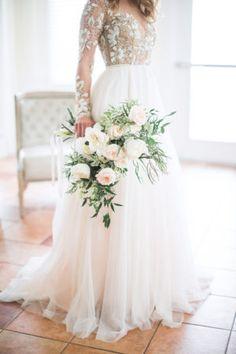 Organic White and Blush Bridal Bouquet // soft, whimsical, greenery, romantic Beach Wedding Favors, Seaside Wedding, Diy Wedding Flowers, Bridal Flowers, Flower Bouquet Wedding, Floral Wedding, Wedding Colors, Seaside Theme, Flower Bouquets