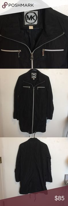 Michael Kors Jacket Brand New, Never Worn! Black Long Windbreaker Jacket! Light Weight! Perfect for the Winter & Spring 🍃 Michael Kors Jackets & Coats