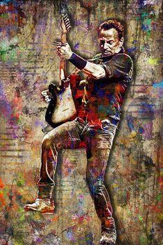 Bruce Springsteen Poster, Bruce Springsteen Portrait Gift, Bruce Sprin – McQDesign