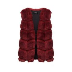 Yoins Burgundy Dyed Artificial Fox Fur Vest ($55) ❤ liked on Polyvore featuring outerwear, vests, fur, jackets, cardigans, burgundy, faux fox fur vest, red waistcoat, fox fur vest and red vest