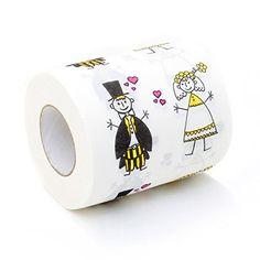 #Wohnung Hochzeit Toilettenpapier Just Married Fun Klopapier bedruckt
