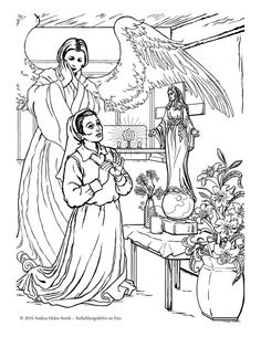 our lady of akita coloring page