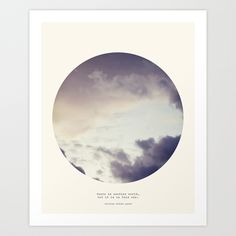"There Is Another World Art Print by Tina Crespo in Mini (8"" x 9"") - $18.50"