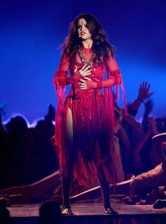 Selena Gomez performs 'Come And Get It' on stage during the 2013 MTV Movie Awards in Los Angeles.