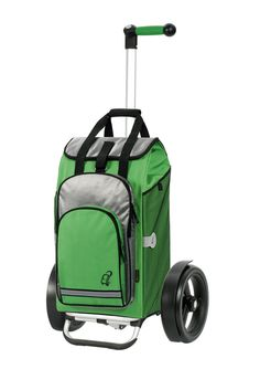 TURA Shopper® - with detachable backpack, and showing the optional big wheels with mudguards and matching handle