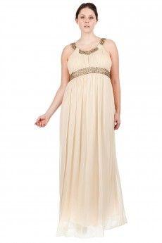 Une robe de cérémonie grande taille de luxe pour une allure de déesse grecque. Taille maxi : 58