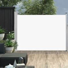 vidaXL krémszínű behúzható oldalsó teraszi napellenző 100 x 500 cm Pergola Patio, Gazebo, Backyard, Patio Awnings, Outdoor Garden Furniture, Outdoor Decor, Door Canopy, Retractable Awning, Australia Living