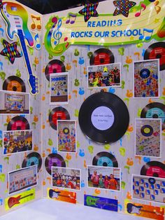 Love what they did with our School Rocks Bulletin Board
