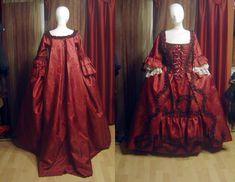 Robe a la franciase in red by azdaja.deviantart.com on @deviantART ~ Such details