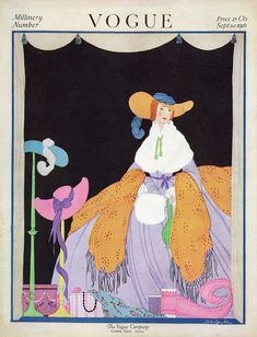 Illustration Art Print featuring the photograph Vogue Cover Featuring A Woman Wearing A Purple by Helen Dryden
