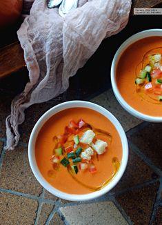 1366 2000 17 Veggie Recipes, Real Food Recipes, Soup Recipes, Vegetarian Recipes, Cooking Recipes, Yummy Food, Healthy Recipes, Omega 3, Gazpacho Soup