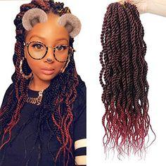Wavy Senegalese Twist Crochet Hair Braids Wavy Ends Ombre Synthetic Hair Extension Kanekalon Curly Cro. Wavy Senegalese Twist Crochet Hair Braids Wavy Ends Ombre Synthetic Hair Extension Kanekalon Curly Cro. Senegalese Twist Crochet Braids, Senegalese Twist Styles, Senegalese Twist Hairstyles, Crochet Braids Hairstyles, Braided Hairstyles, Crotchet Braids, Prom Hairstyles, Crochet Hair Extensions, Synthetic Hair Extensions