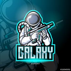 Galaxy astronaut mascot logo for electronic sport gaming logo. - Buy this stock vector and explore similar vectors at Adobe Stock Kids Logo, Graphic Design Layouts, Darth Vader, Vector Freepik, Vectors, Logos, Sports, Fictional Characters, Adobe