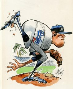 LA Dodgers illustration by Jack Davis