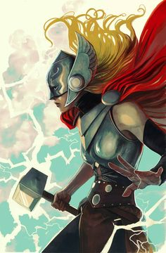 Thor #7 variant cover by Stephanie Hans *